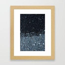 Beach Rock Pattern Framed Art Print