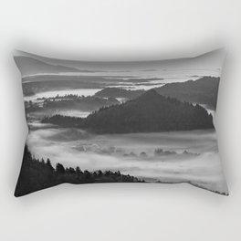 Black and White Bled at Sunset - Slovenia Rectangular Pillow