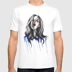In Our Wildest Moments // Fashion Illustration MEDIUM White Mens Fitted Tee