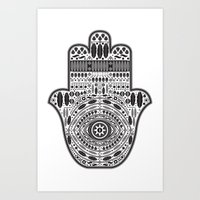 hamsa Art Prints featuring Hamsa by Paint it graphics