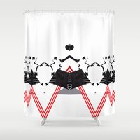 rorschach Shower Curtains featuring Rorschach by Isaak_Rodriguez
