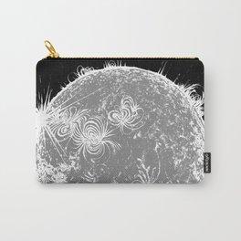 Large Sun Print, monochrome star design by Little Lark Carry-All Pouch