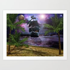 Second Star to the right.. Art Print