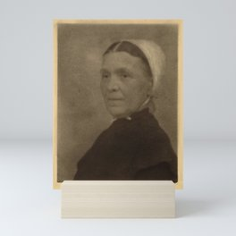 Doris Ulmann  (1882–1934), Head shot of Quaker woman in white bonnet and dark dress Mini Art Print
