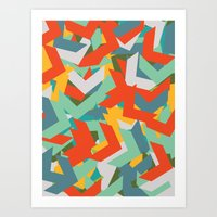 chevron Art Prints featuring Chevron by INDUR