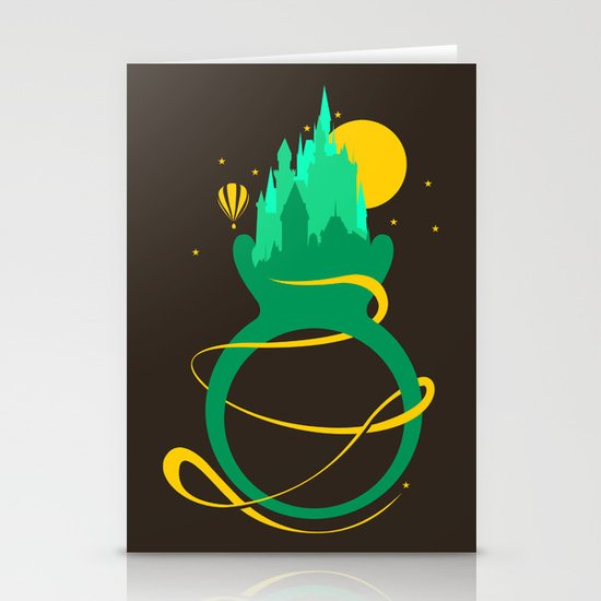 Emerald Ring Stationery Cards