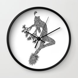 Quail Woman by CREYES of ArtFx Old Town Yucca Valley Wall Clock