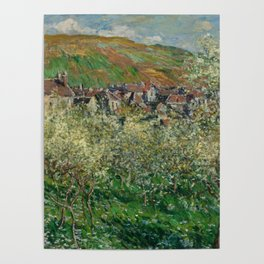 Plum Trees in Blossom Poster