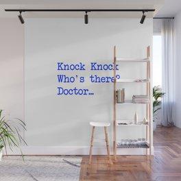 Knock-Knock 4 Wall Mural