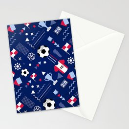 Love Football Background Stationery Cards