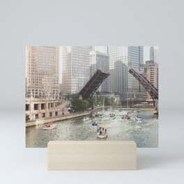 Chicago River, Bridges Up Mini Art Print