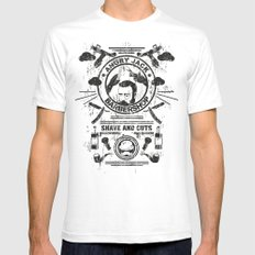 Barbershop White SMALL Mens Fitted Tee