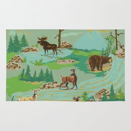 Paint by Number Woodland Animals Rug