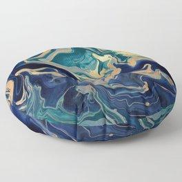 DRAMAQUEEN - GOLD INDIGO MARBLE Floor Pillow