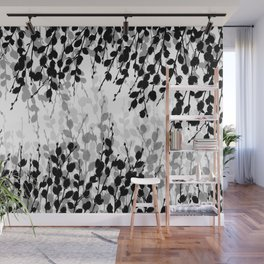 Elegant Pussywillow   Black • White • Gray Wall Mural