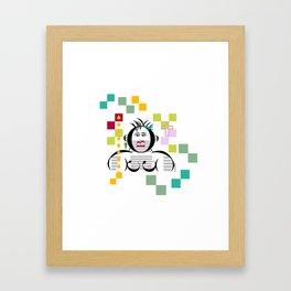 en la cocina Framed Art Print