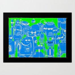 Robots Holidays Art Print