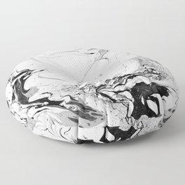 // MARBLED WHITE // Floor Pillow
