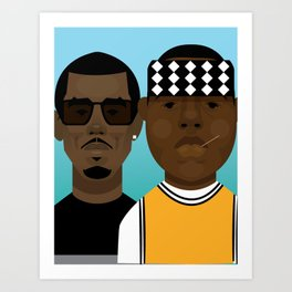 Puffy and Biggie Art Print