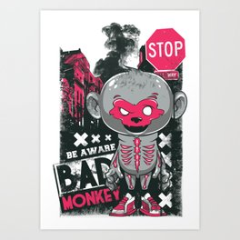 Cartoon Skeleton Art Print