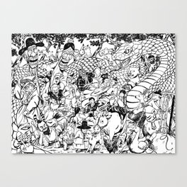 Party in the woods Canvas Print
