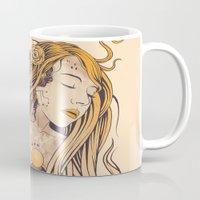 sleeping beauty Mugs featuring Sleeping Beauty by Azrhon