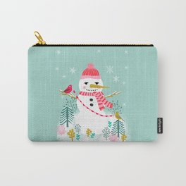 Holiday Snowman by Andrea Lauren  Carry-All Pouch