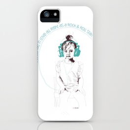 RocknRoll Girl iPhone Case