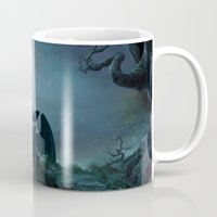 targaryen Mugs featuring TOOTHLESS halloween by kattie flynn