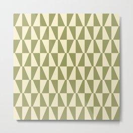 Mid Century Modern Geometric 315 Olive Green Metal Print