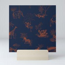 Zoology: Navy Mini Art Print