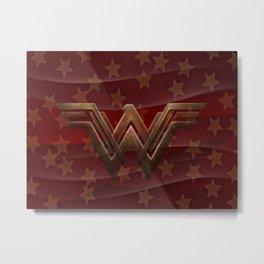 Wavy Red Wonder Women Metal Print
