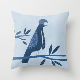 Umbrella Bird Throw Pillow