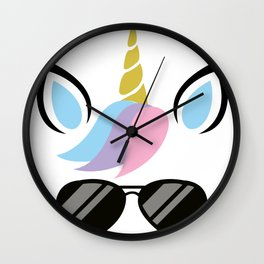 I'm A Unicorn With glasses Costume - FUNNY HALLOWEEN Wall Clock
