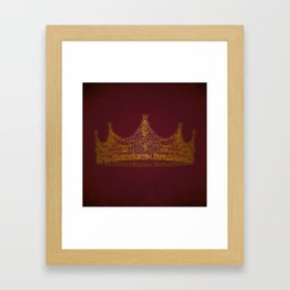 king for a day Framed Art Print