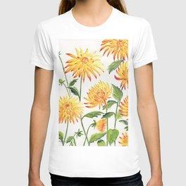 Dahlia Flowers 1 T-shirt