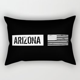 Black & White U.S. Flag: Arizona Rectangular Pillow