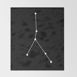 CANCER (BLACK & WHITE) Throw Blanket