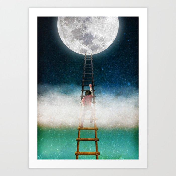 Reach for the Moon Art Print