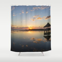 Gazebo at Sunset Shower Curtain