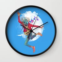 birdman Wall Clocks featuring BIRDMAN by GENO