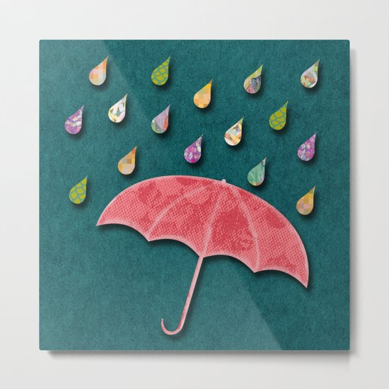It's raining, it's pouring Metal Print
