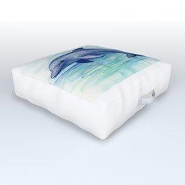 Dolphin Watercolor Sea Creature Animal Outdoor Floor Cushion