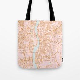 Cairo map, Egypt Tote Bag