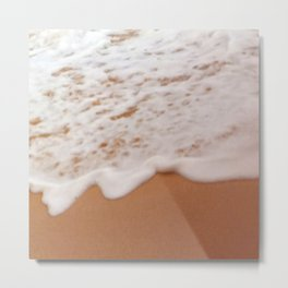 Tropical Coral Sand Beach With Toe-Tickling Foamy Surf Metal Print