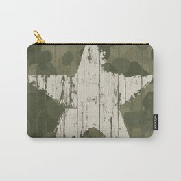 Military camouflage  with star Carry-All Pouch