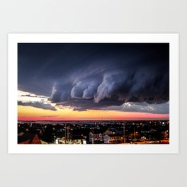 Storm Rolls In Art Print
