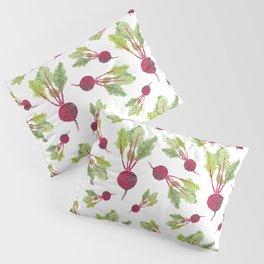 Feel the Beet in Radish White Pillow Sham