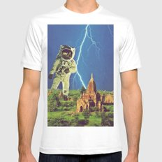 Attack White MEDIUM Mens Fitted Tee
