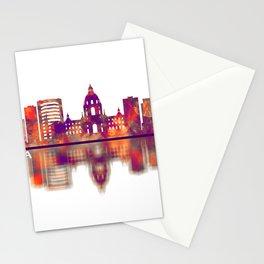 Pasadena California Skyline Stationery Cards